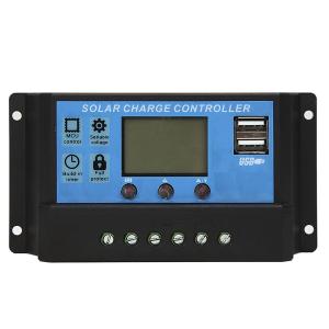 Controlador de carga solar PWM 20A 12V/24V